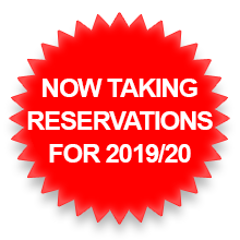 Now taking reservations for 2019/20